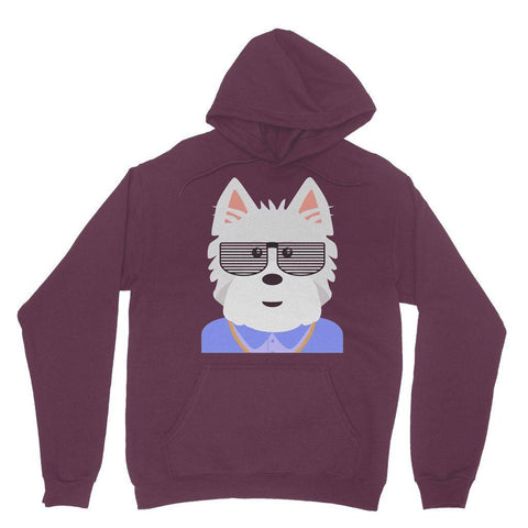 Image of West.I.am Hoodie Apparel kite.ly S Maroon