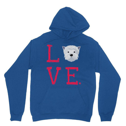 LOVE Westie Hoodie Apparel kite.ly XS Royal Blue
