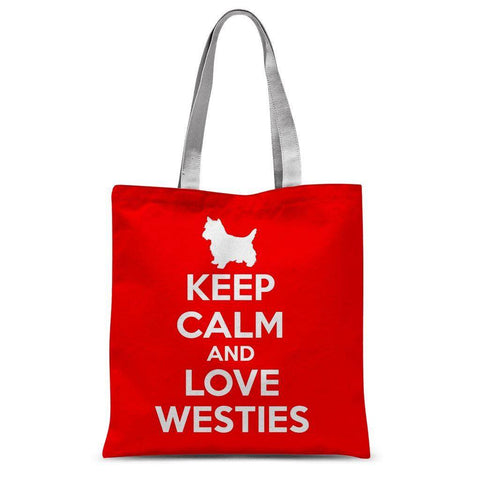 Keep Calm And Love Westies Tote Bag Accessories kite.ly