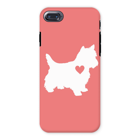 Image of Westie Heart Coral Phone Case