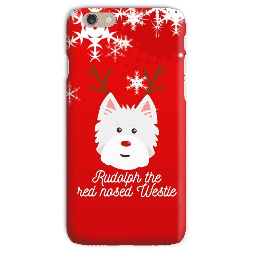 Rudolph The Red Nosed Westie Phone Case Phone & Tablet Cases kite.ly iPhone 6s Snap Case Gloss