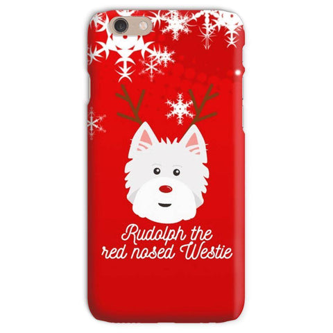 Image of Rudolph The Red Nosed Westie Phone Case Phone & Tablet Cases kite.ly iPhone 6s Snap Case Gloss