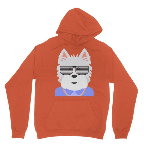 Image of West.I.am Hoodie Apparel kite.ly S Orange