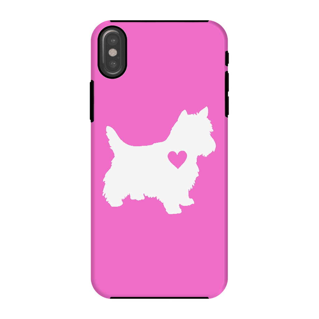 Westie Heart Pink Phone Case