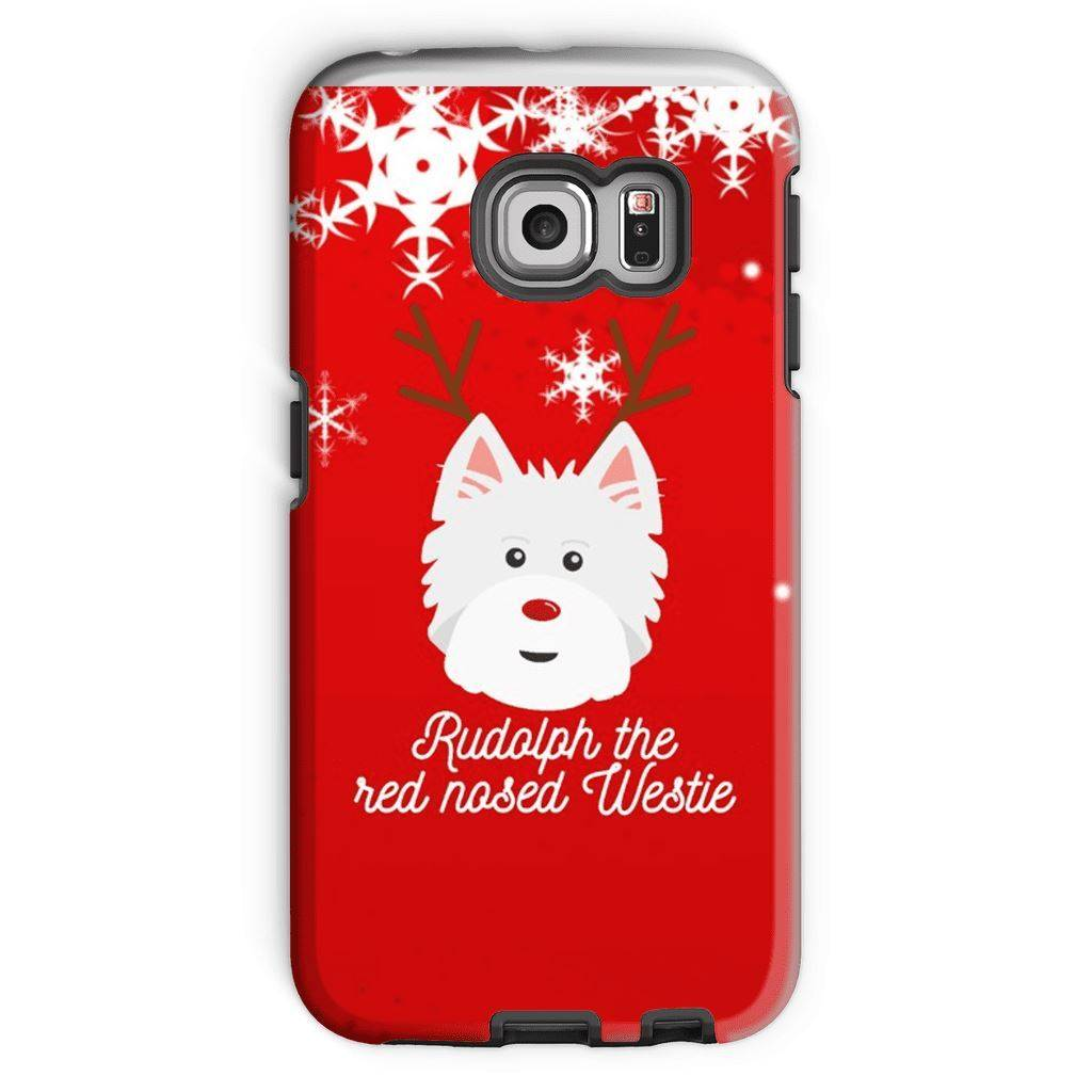 Rudolph The Red Nosed Westie Phone Case Phone & Tablet Cases kite.ly Galaxy S6 Edge Tough Case Gloss
