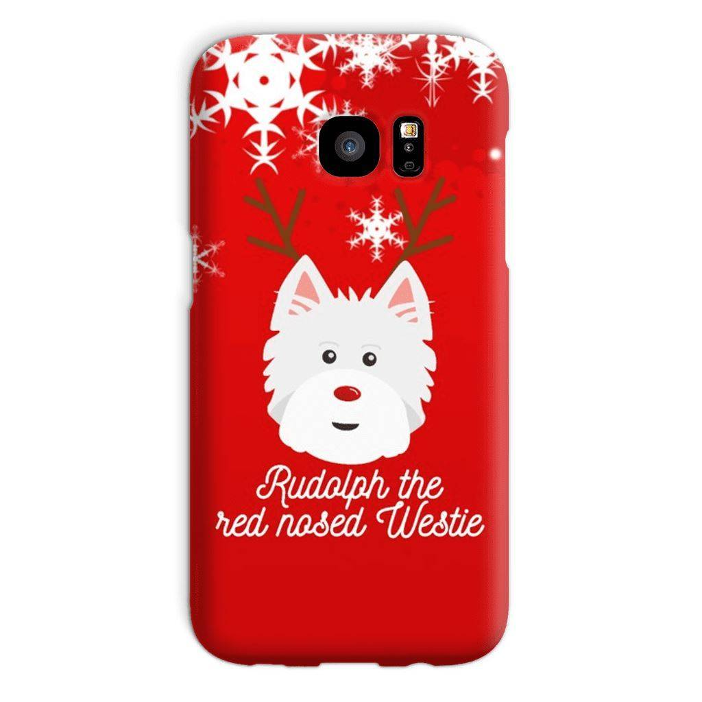 Rudolph The Red Nosed Westie Phone Case Phone & Tablet Cases kite.ly Galaxy S7 Snap Case Gloss