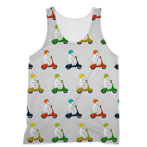 Motorcycling Westies Sublimation Vest Apparel kite.ly XS