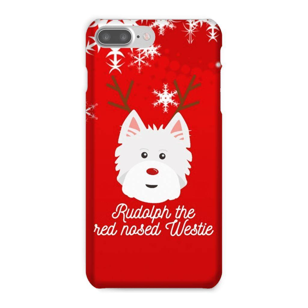 Rudolph The Red Nosed Westie Phone Case Phone & Tablet Cases kite.ly iPhone 7 Plus Snap Case Gloss