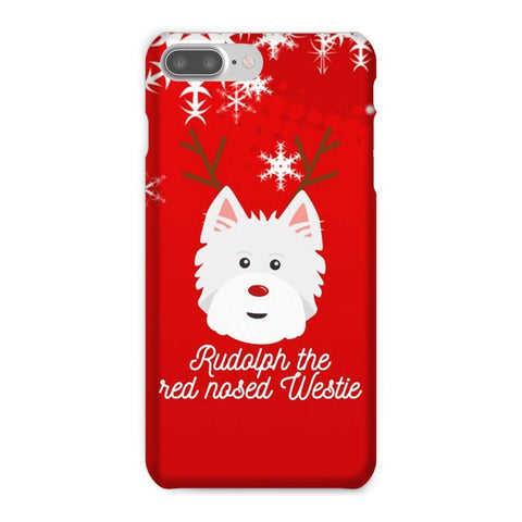 Image of Rudolph The Red Nosed Westie Phone Case Phone & Tablet Cases kite.ly iPhone 7 Plus Snap Case Gloss