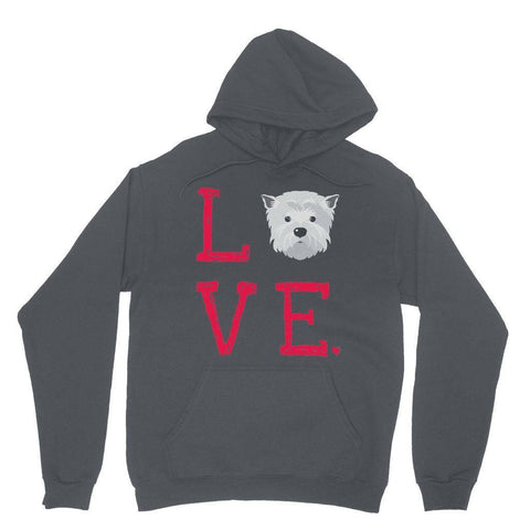 LOVE Westie Hoodie Apparel kite.ly XS Charcoal