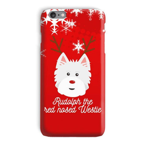 Image of Rudolph The Red Nosed Westie Phone Case Phone & Tablet Cases kite.ly iPhone 6 Plus Snap Case Gloss
