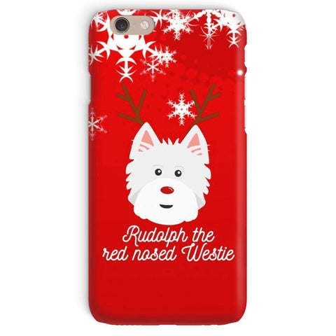 Image of Rudolph The Red Nosed Westie Phone Case Phone & Tablet Cases kite.ly iPhone 6 Snap Case Gloss