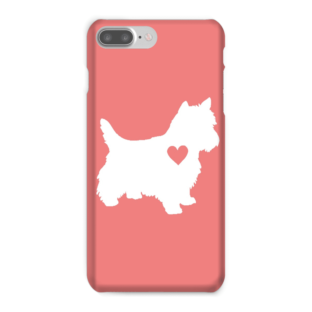 Westie Heart Coral Phone Case
