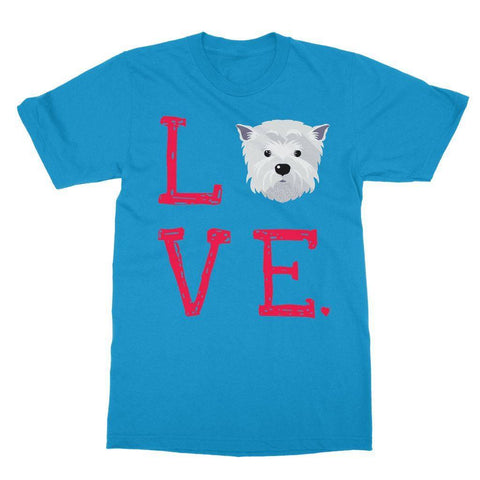 Image of LOVE Westie Tee Apparel kite.ly S Sapphire