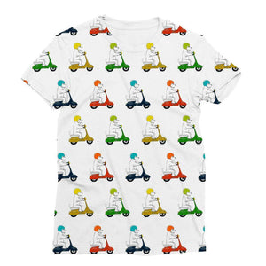 Motorcycling Westies Sublimation Tee Apparel kite.ly S