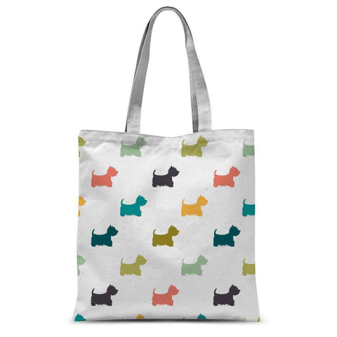 "Coloured Westies Tote Bag Accessories kite.ly 15""x16.5"""