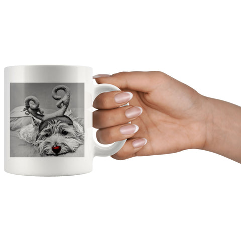 Image of Rudolph the red nosed Westie Photo Mug Drinkware teelaunch