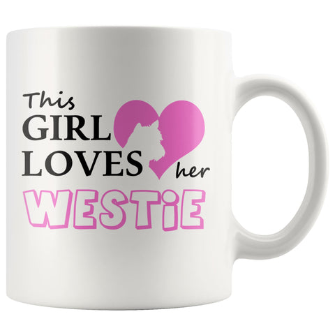 Image of This Girl Loves Her Westie Mug Drinkware teelaunch 11oz Mug