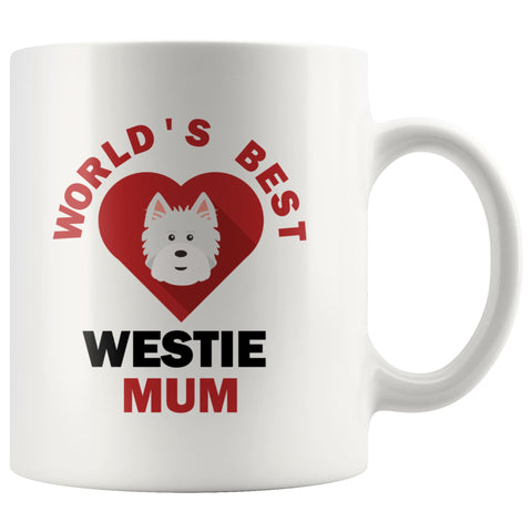 Image of World's Best Westie Mum Mug Drinkware teelaunch 11oz Mug