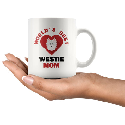 Image of Worlds Best Westie MOM Mug Drinkware teelaunch