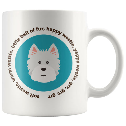 Happy Westie Mug - Big Bang Theory Mug Drinkware teelaunch 11oz Mug