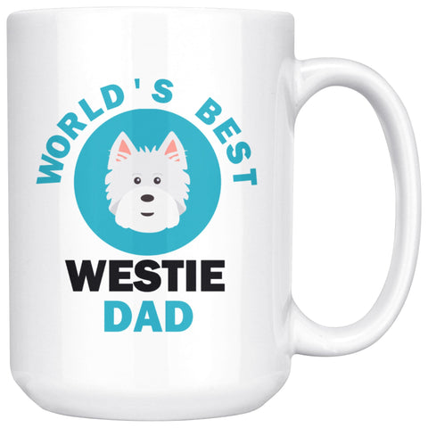 Image of World's Best Westie Dad Mug Drinkware teelaunch 15oz Mug