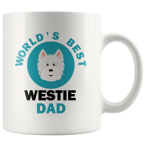 Image of World's Best Westie Dad Mug Drinkware teelaunch 11oz Mug