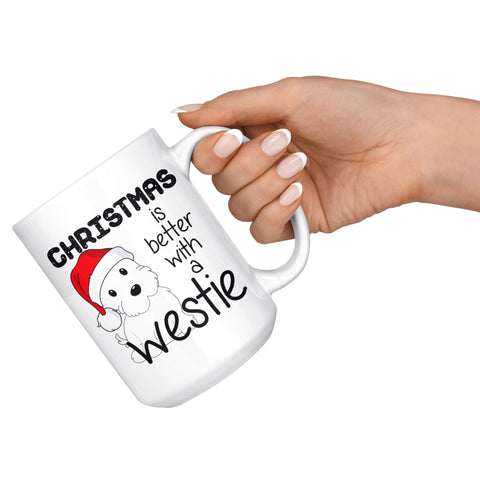 Image of Christmas is better with a Westie Mug Drinkware teelaunch