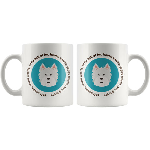 Happy Westie Mug - Big Bang Theory Mug Drinkware teelaunch
