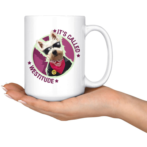 Image of It's Called Westitude Westie Mug Drinkware teelaunch