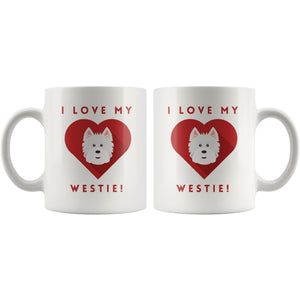 I Love My Westie Mug Drinkware teelaunch