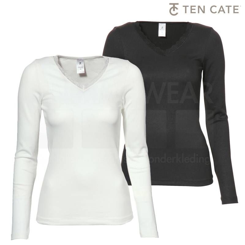 ten Cate Thermo Dames - Thermo shirt met kant lange mouw 30238 - 2 kleuren