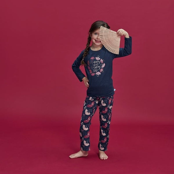 Meisjes Pyjama Homewear Set Happy Life Waaier