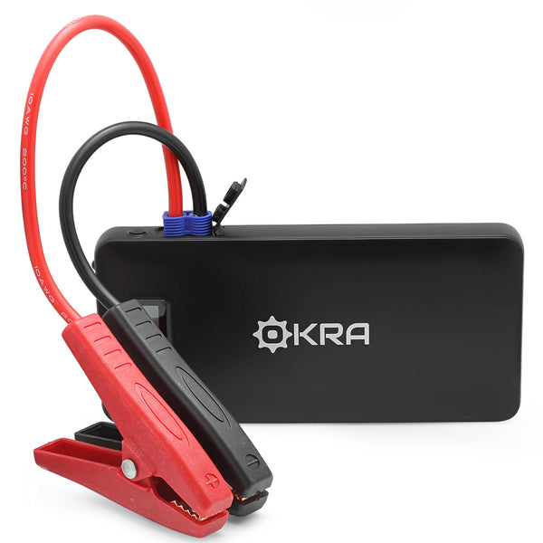 Okra 10000Mah Auto Ignition Portable Dual Power Bank and Car Jump Starter Kit