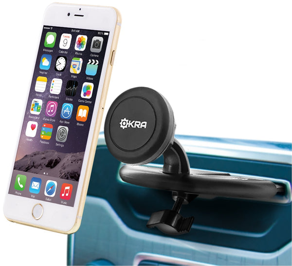 Universal Powerful Magnetic CD Slot Car Mount Cradle-less Holster for all Smartphones & GPS Devices