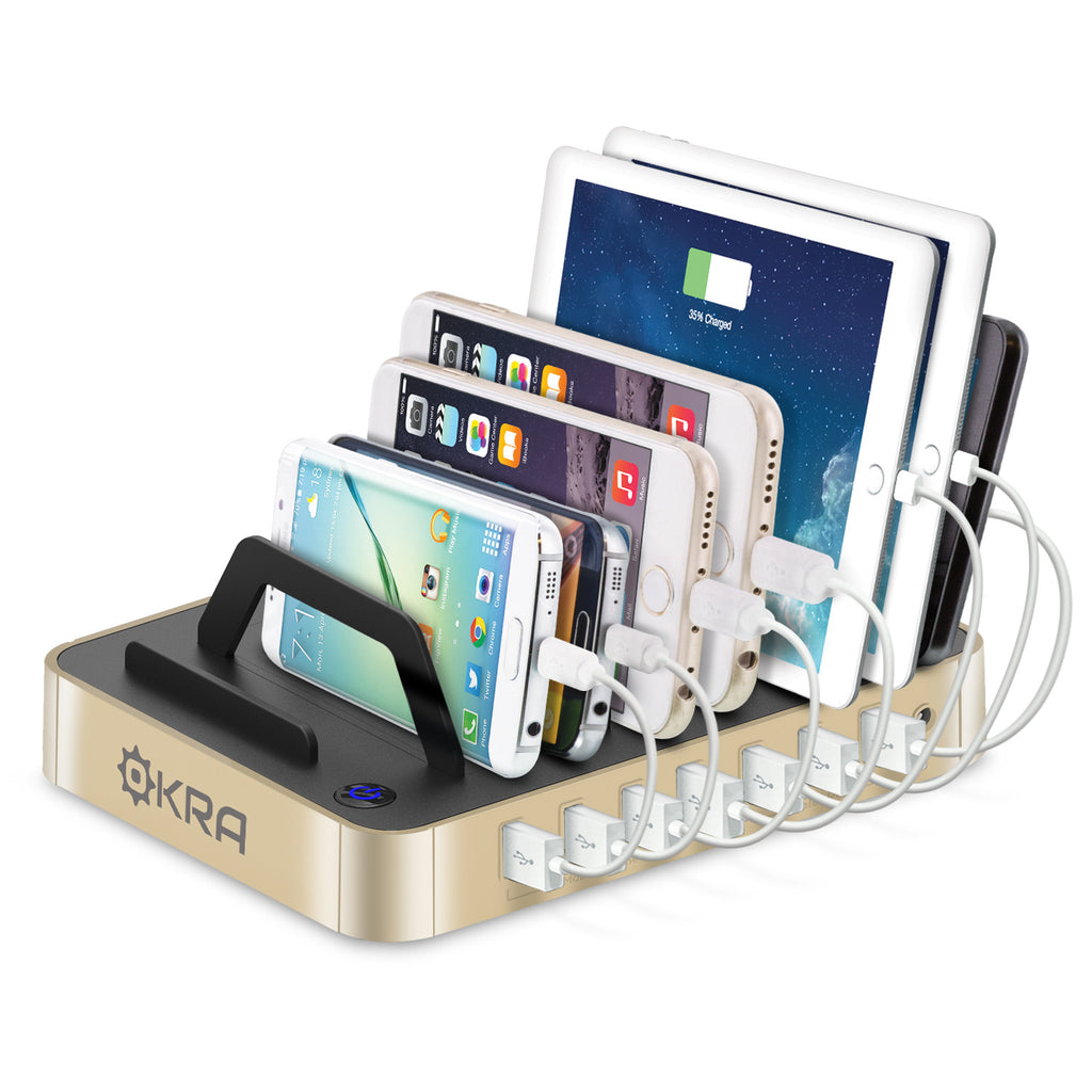 7 Port Hub Usb Desktop Universal Charging Station Multi