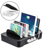6 Port USB Charging Station 2-in-1 Organizer + Removable Charging Hub