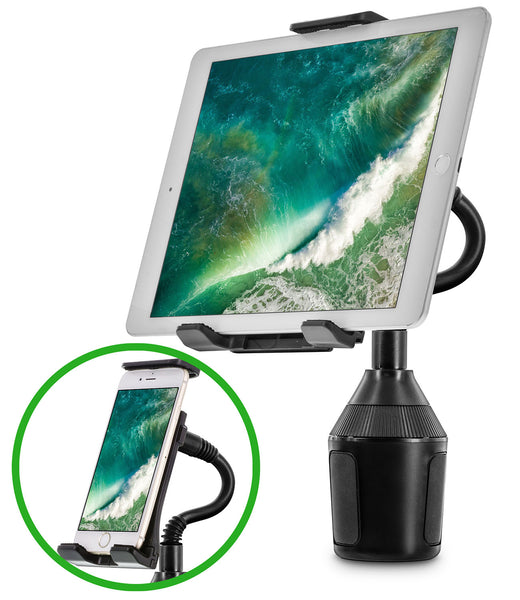 Okra 2-in-1 Car Cup Holder Mount for Phone & Tablet
