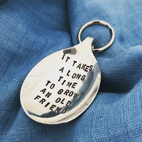 Grow an old friend - Spoon Keyring - Handmade