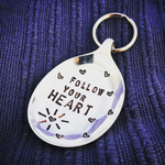Follow your heart - Spoon Keyring - Handmade