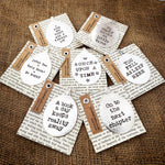 Drink tea, read books, be happy - Stamped spoon bookmark - Handmade