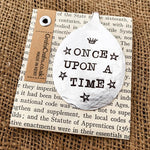 Once upon a time - Stamped spoon bookmark - Handmade