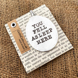 You fell asleep here - Stamped spoon bookmark - Handmade