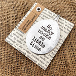 So many books - Stamped spoon bookmark - Handmade