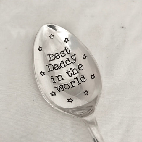 Best Daddy in the world - Silver plated spoon - Handmade