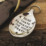 Dogs leave pawprints on your heart - Spoon Keyring - Handmade