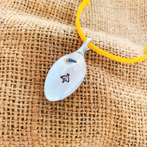 Bee spoon pendant - Silver plated spoon - Made in Kent