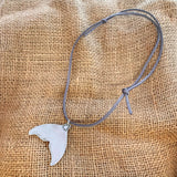 Handmade Whale tail pendant - Silver plated - Made in Kent