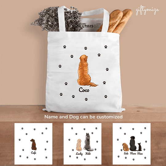 Dog Squad Personalized Tote Bag - Name and Dog can be customized