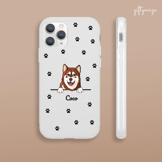 Funny Dog Personalized Phone Case for iPhone, Samsung - Name and Dog can be customized